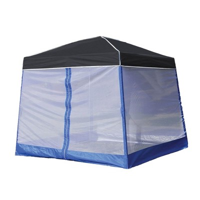 Z Shade 10' x 10' Outdoor Portable Black Canopy Tent + Screen Shelter Attachment