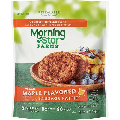 Morningstar Farms Maple Flavored Frozen Veggie Sausage Patties - 8oz