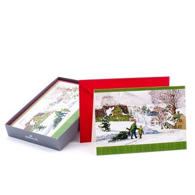 16ct Hallmark Bringing Home The Tree Greeting Cards