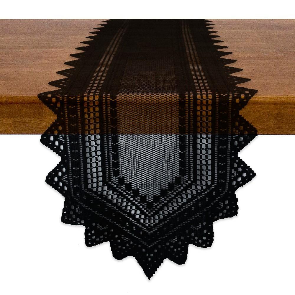 Design Imports 72 X14 Table Runner Black