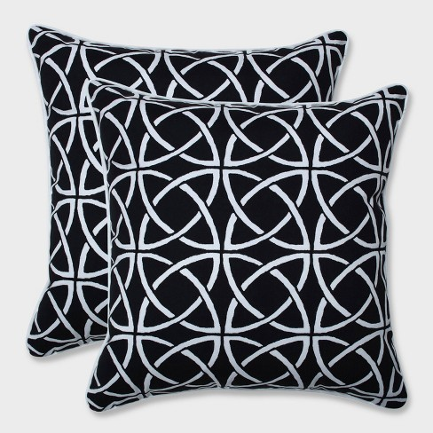 "16.5"" 2pk Catamaran Tile Throw Pillows Black - Pillow Perfect - image 1 of 1"
