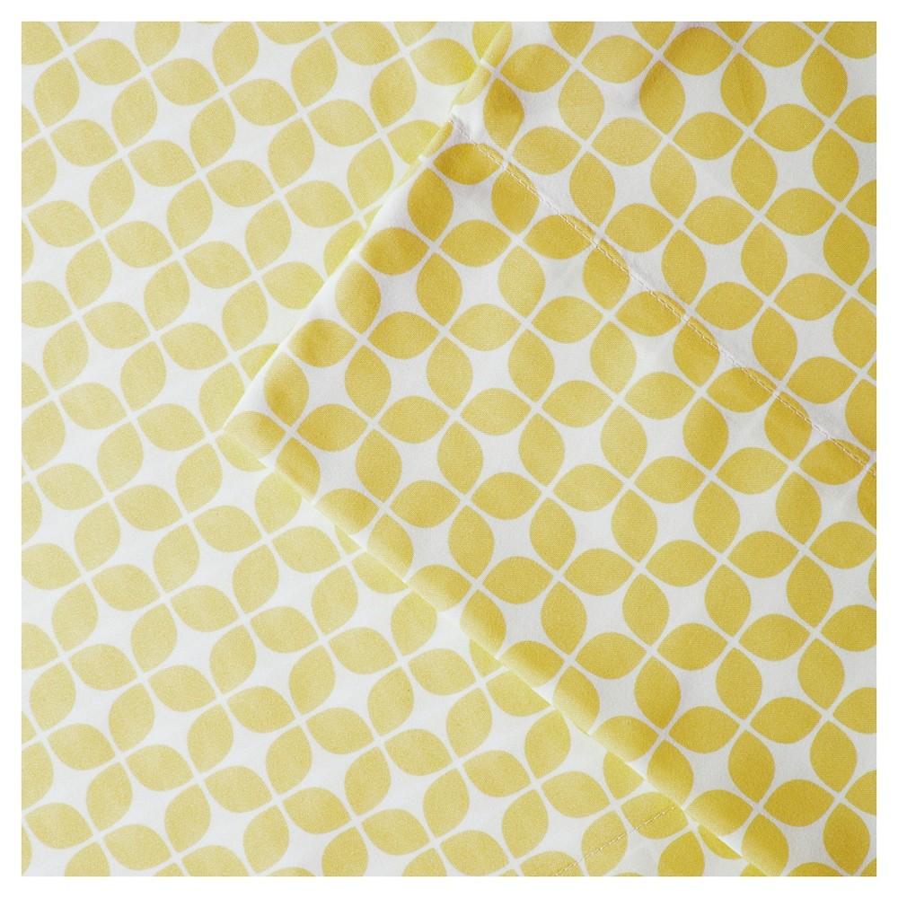 Lita Print Microfiber Sheet Set (Twin) Yellow