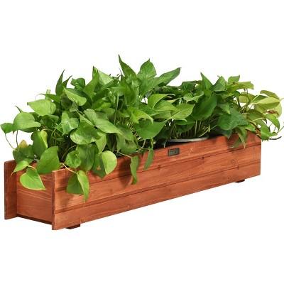 28/36/40 Inch Wooden Flower Planter Box Garden Yard Decorative Window Box Rectangular