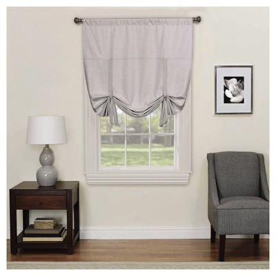 Kendall Thermaback Blackout Tie-Up Shade Gray (42 x63 )- Eclipse™
