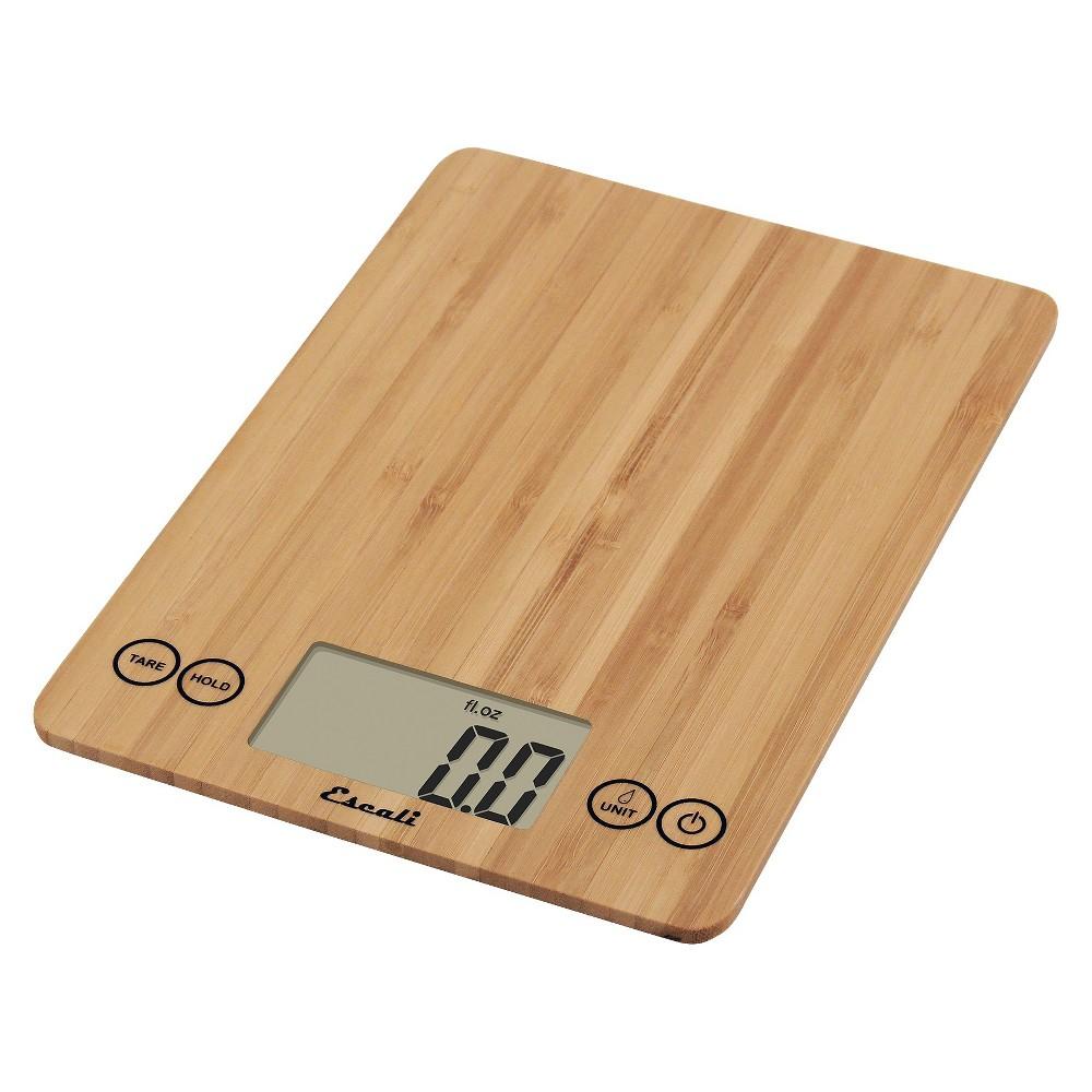 Image of Escali Arti Digital Food Scale - 15 lb capacity - Bamboo, Brown