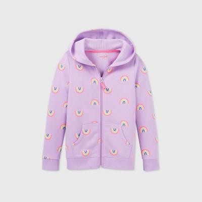 Girls' Printed Zip-Up Hoodie - Cat & Jack™
