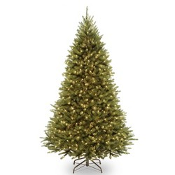 National Tree Company 7.5ft Kingswood Fir Full Artificial Tree Dual Color LED