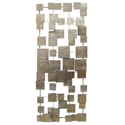 "32.25"" x 14"" Geometric Tiles Wall Decor Champagne - Stratton Home Décor"