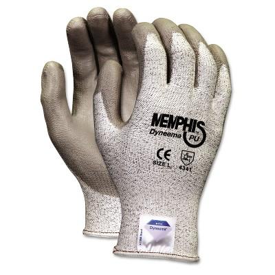 Memphis Dyneema Polyurethane Gloves Extra Large White/Gray Pair 9672XL