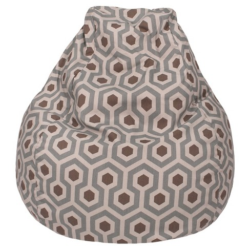 Marvelous Teardrop Magna Print Bean Bag Pewter L Gold Medal Caraccident5 Cool Chair Designs And Ideas Caraccident5Info