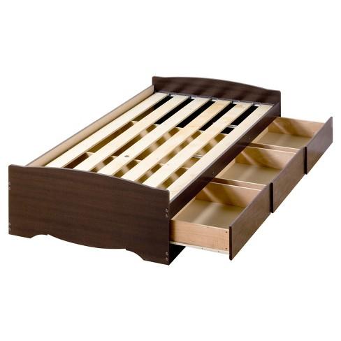 3 Drawer Platform Storage Bed Twin Xl Espresso Prepac Target