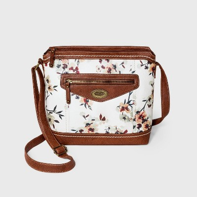 Concept Floral Print Zip Closure Crossbody Bag