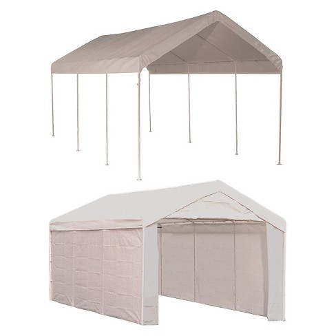 "Shelter Logic 10x20 Canopy 1 3/8"" 8-Leg Frame Cover with Enclosure Kit - image 1 of 2"