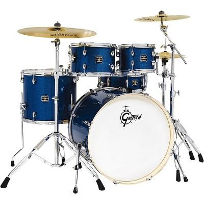 Gretsch Drums Energy 5-Piece Drum Set With Hardware and Zildjian Cymbals Dark Blue Sparkle