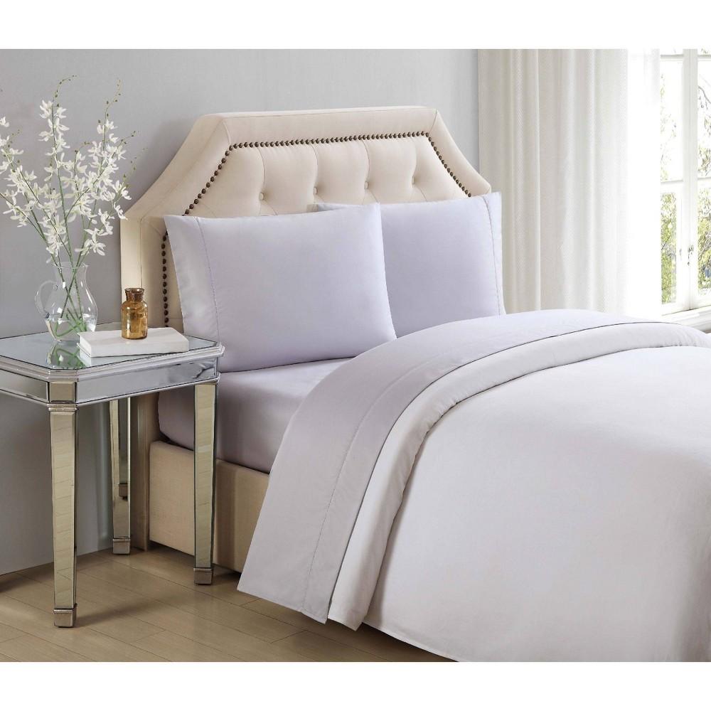 California King 600 Thread Count Solid Cotton Sheet Set Lilac (Purple) - Charisma