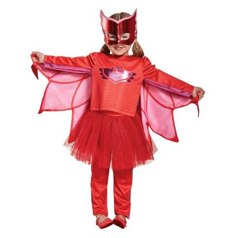 Pj Masks Halloween Costume.Girls Pj Masks Owlette Prestige Tutu Costume S 4 6x