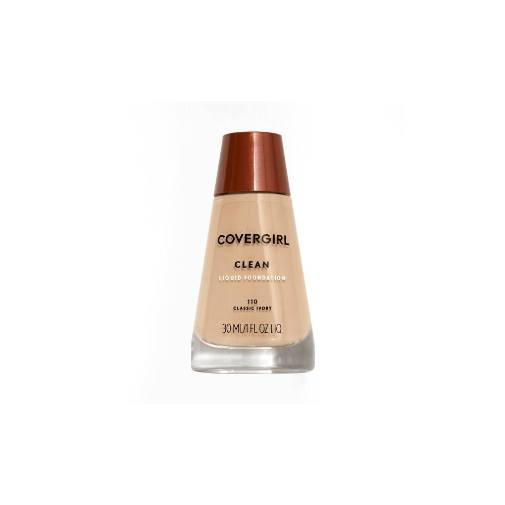 Image of COVERGIRL Clean Foundation 110 Classic Ivory 1 fl oz