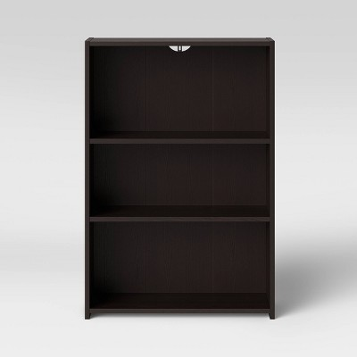 3 Shelf Bookcase Espresso Brown - Room Essentials™