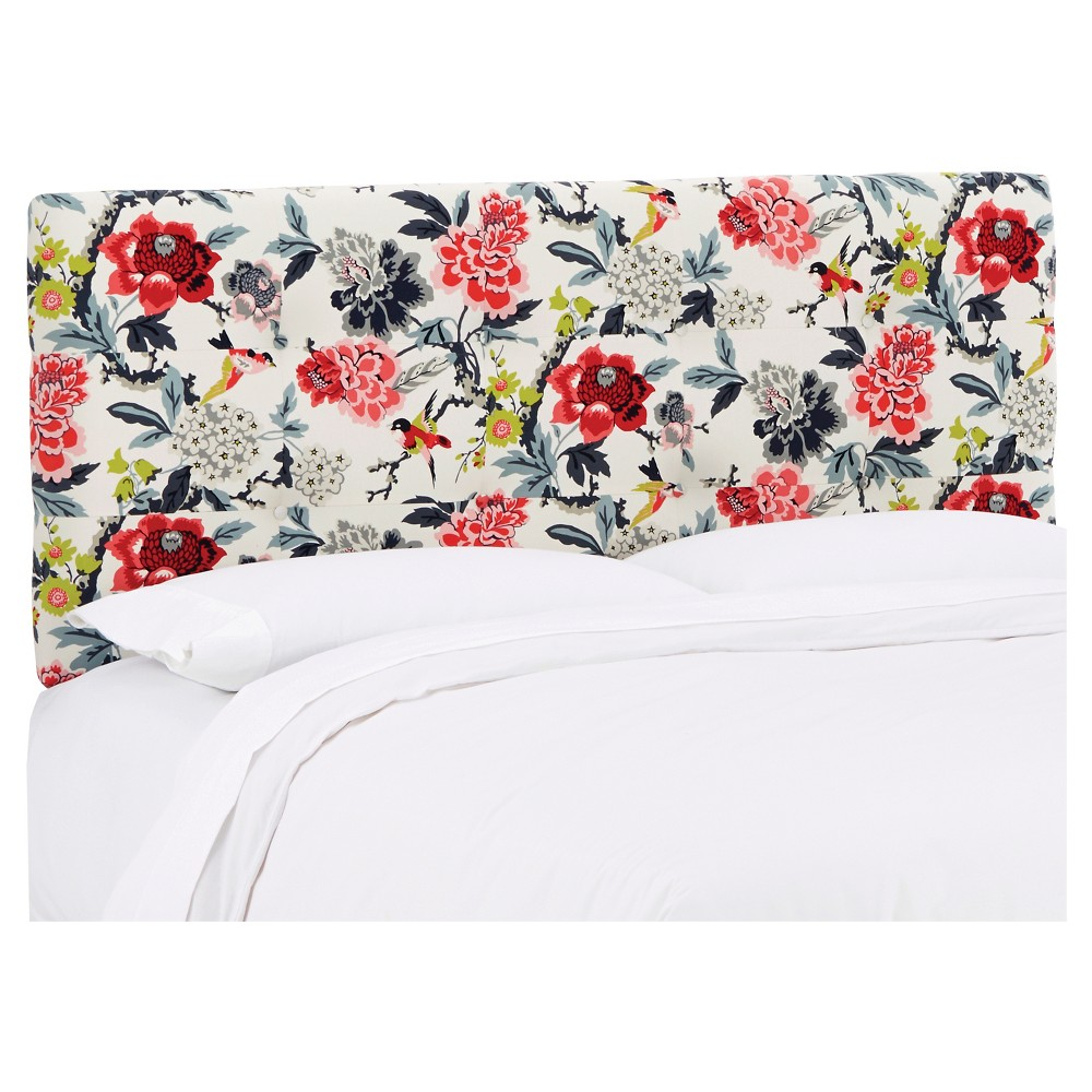 Dolce Patterned Headboard - Candid Moment Black - Queen - Skyline Furniture