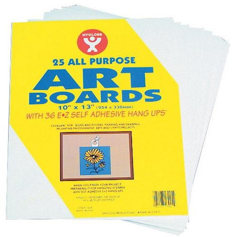 Hygloss Multi-Purpose Art Board with Self-Adhesive Hanger, 10 x 13 Inches, White, pk of 25 - image 1 of 1