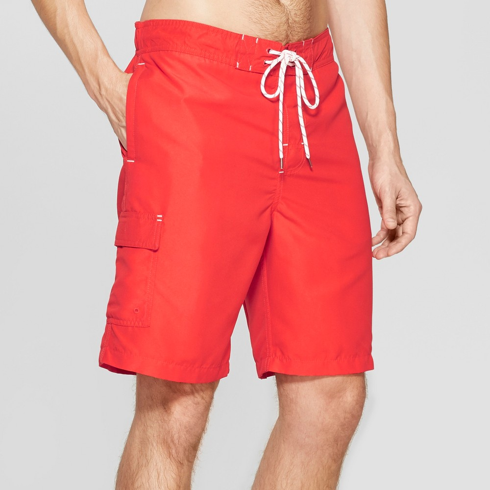 Men's 9 Swim Trunks - Goodfellow & Co Red 2XL