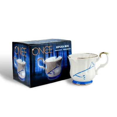 Surreal Entertainment Once Upon A Time Collectibles | White Chipped Ceramic Molded Mug | 12oz