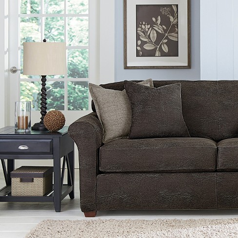 Ultimate Stretch Leather 3pc Sofa Slipcover Antiqued Slate Sure
