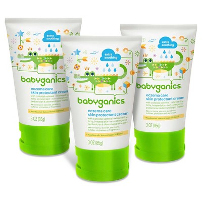 Babyganics Eczema Cream 3oz. (3 pk)