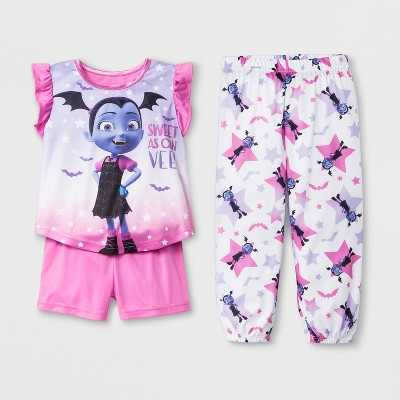 Toddler Girls' Vampirina 3pc Pajama Set - Pink 2T