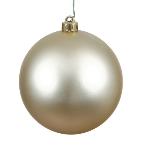 "Vickerman 8"" Champagne Matte Ball Christmas Ornament - image 1 of 1"