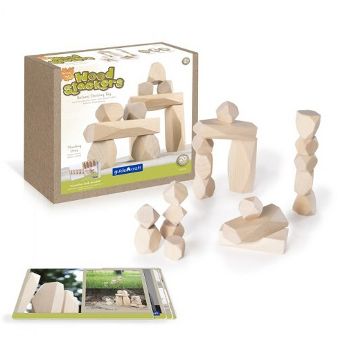 Guidecraft Wood Stackers: Standing Stones - Set of 20 - image 1 of 4