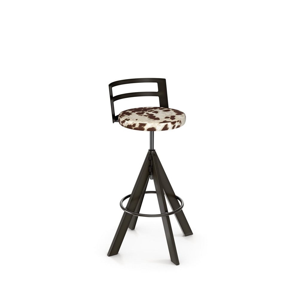 Amisco Swirl Adjustable Stool Brown/Beige