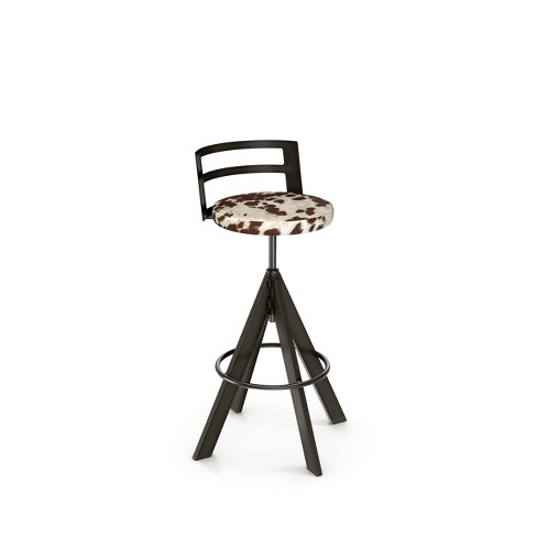 Amisco Swirl Adjustable Stool with Upholstered Seat - image 1 of 3
