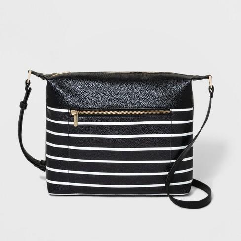 57e091380e Striped Crossbody Bag - A New Day™ Black : Target