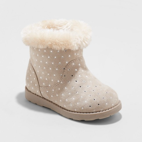 Toddler Girls' Oriole Fleece Ankle Fashion Boots - Cat & Jack™ - image 1 of 3