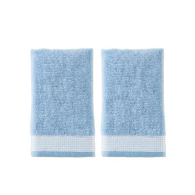 2pc Kali Hand Towel Set Light Blue- Saturday Knight Ltd.