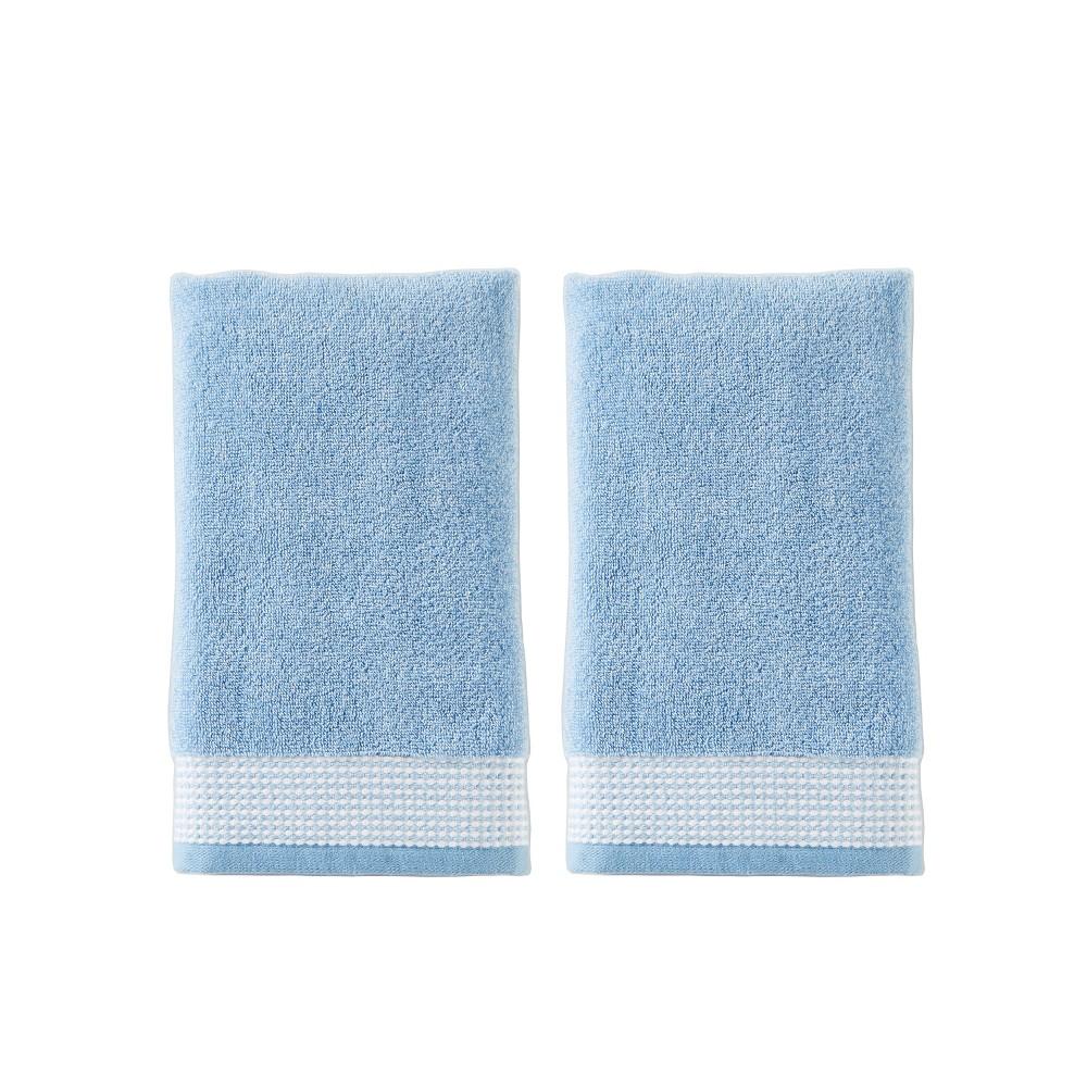 Image of 2pc Kali Hand Towel Set Light Blue- Saturday Knight Ltd.