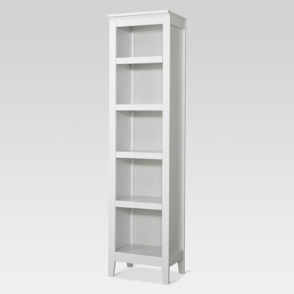 72 34 Carson Narrow 5 Shelf Bookcase White Threshold 8482
