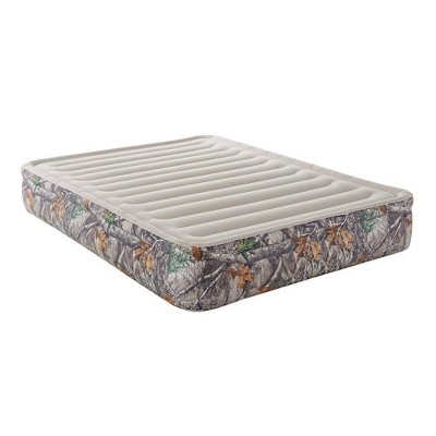 """RealTree Edge Camo Sport Air 13"""" Outdoor Air Mattress with Hands-Free Electric Pump - Queen"""