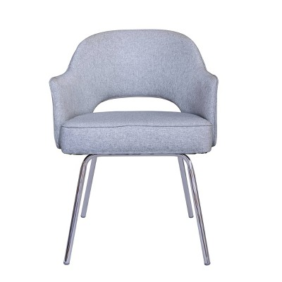 Guest Chair Gray Linen - Boss Office Products : Target