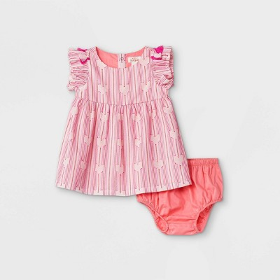 Baby Girls' Clipspot Dress - Cat & Jack™ Pink Newborn