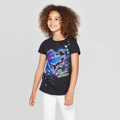 Girls' Descendants Logo Short Sleeve T-Shirt - Black
