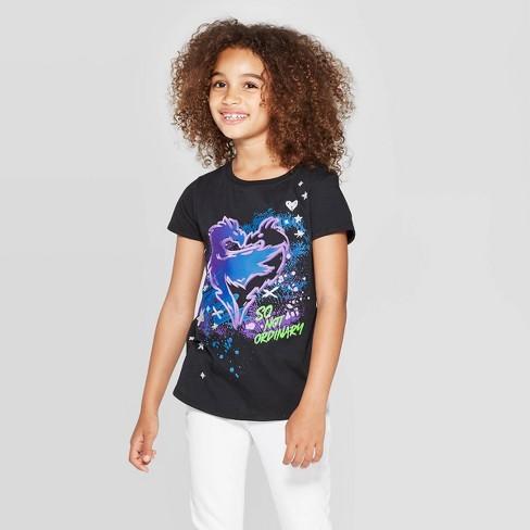 Girls' Descendants Logo Short Sleeve T-Shirt - Black - image 1 of 3