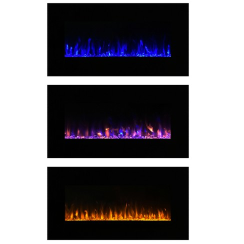 Electric Fireplace Wall Mounted Led Fire And Ice Flame With Remote 36 Northwest Target