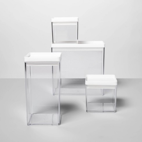 4pc Square Canister Set - Made By Design™ - image 1 of 3