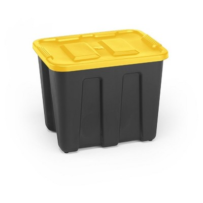 Ordinaire Durabilt®18 Gal Storage Totes, Set Of 4, Black/Yellow : Target