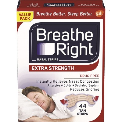 Breathe Right Extra Tan Drug-Free Nasal Strips for Congestion Relief