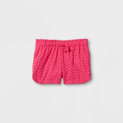 Toddler Girls' Eyelet Woven Pull-On Shorts - Cat & Jack™