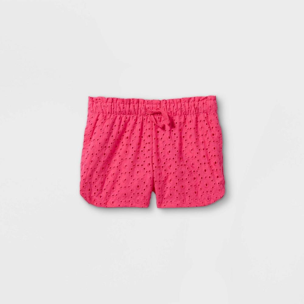 Toddler Girls 39 Eyelet Woven Pull On Shorts Cat 38 Jack 8482 Pink 5t