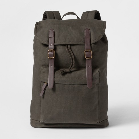 Men's Canvas Backpack - Goodfellow & Co™ Dark Green - image 1 of 3
